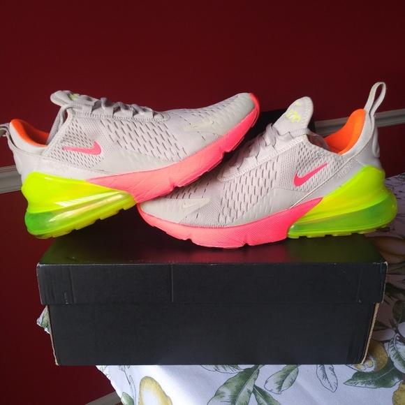 Nike Air Max 27 Neon Green Volt Grey
